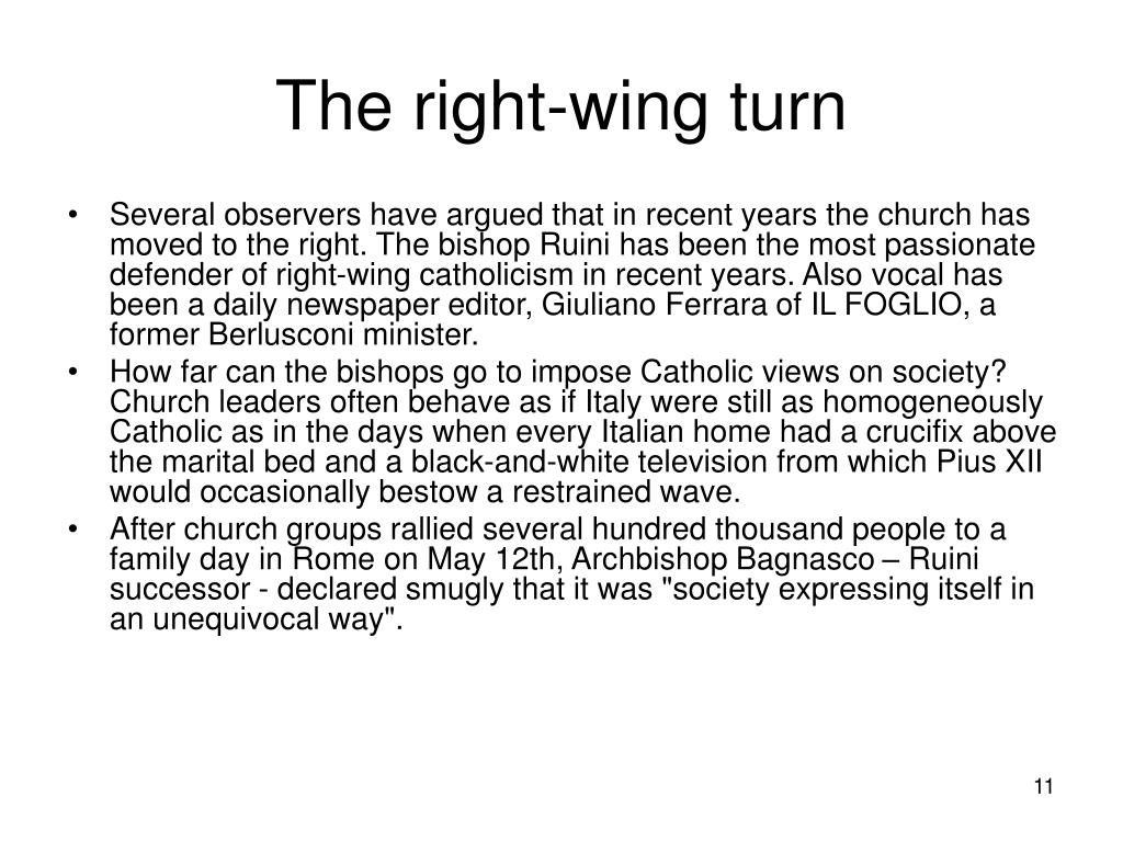 The right-wing turn