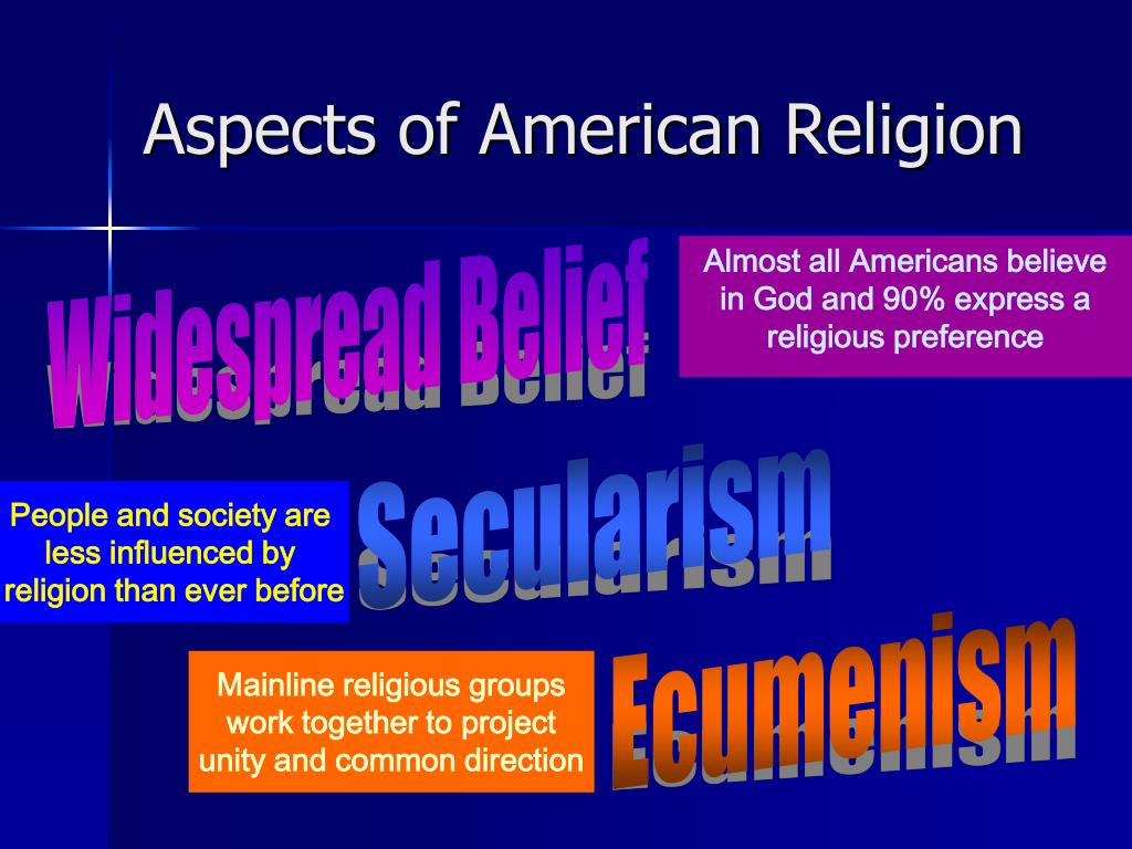 Aspects of American Religion