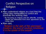 conflict perspective on religion