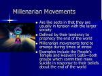 millenarian movements