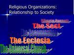 religious organizations relationship to society