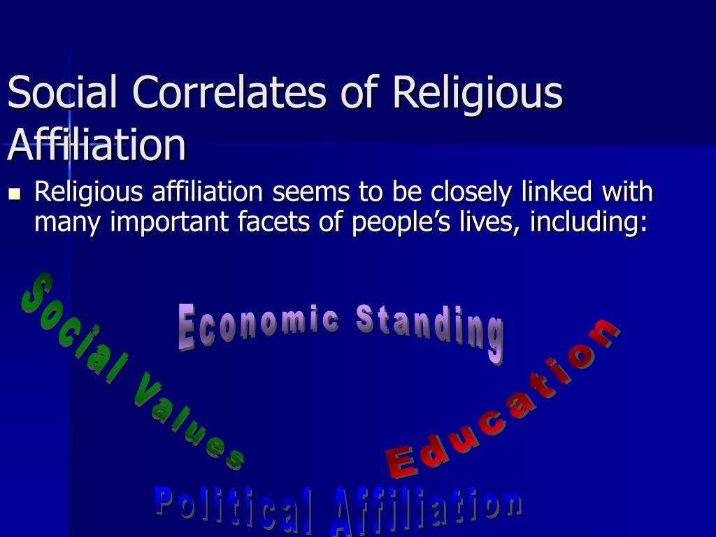 Social Correlates of Religious Affiliation