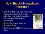 how should evangelicals respond11
