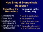 how should evangelicals respond27