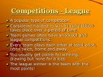 competitions league