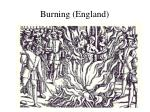 burning england