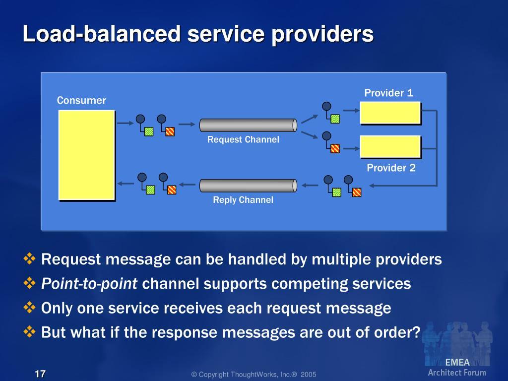 Load-balanced service providers