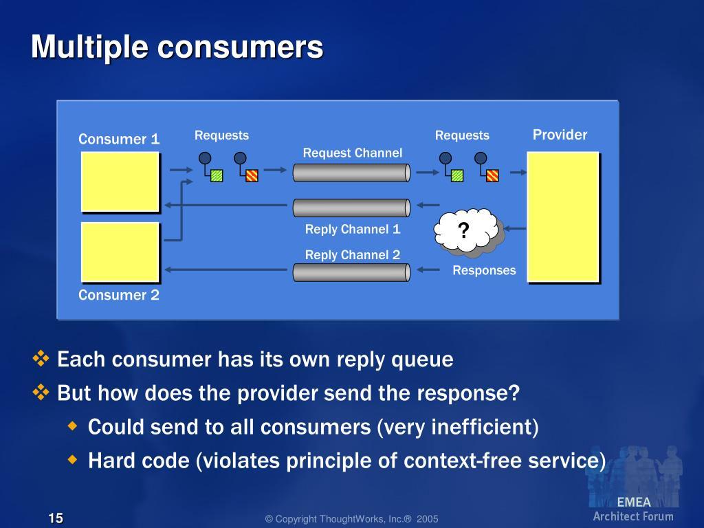 Multiple consumers