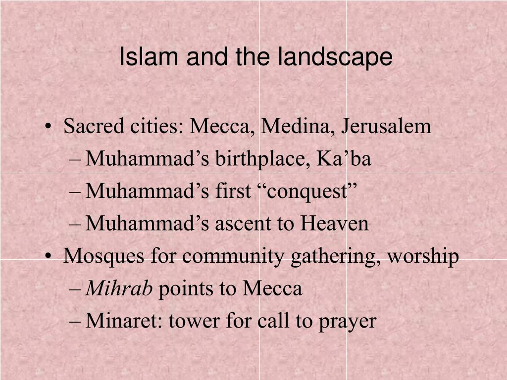 Islam and the landscape