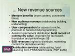 new revenue sources