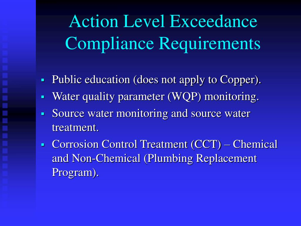Action Level Exceedance Compliance Requirements