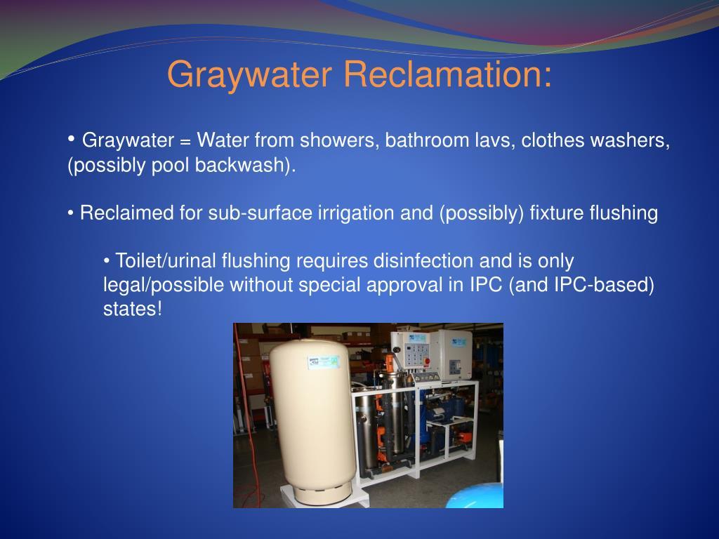 Graywater Reclamation: