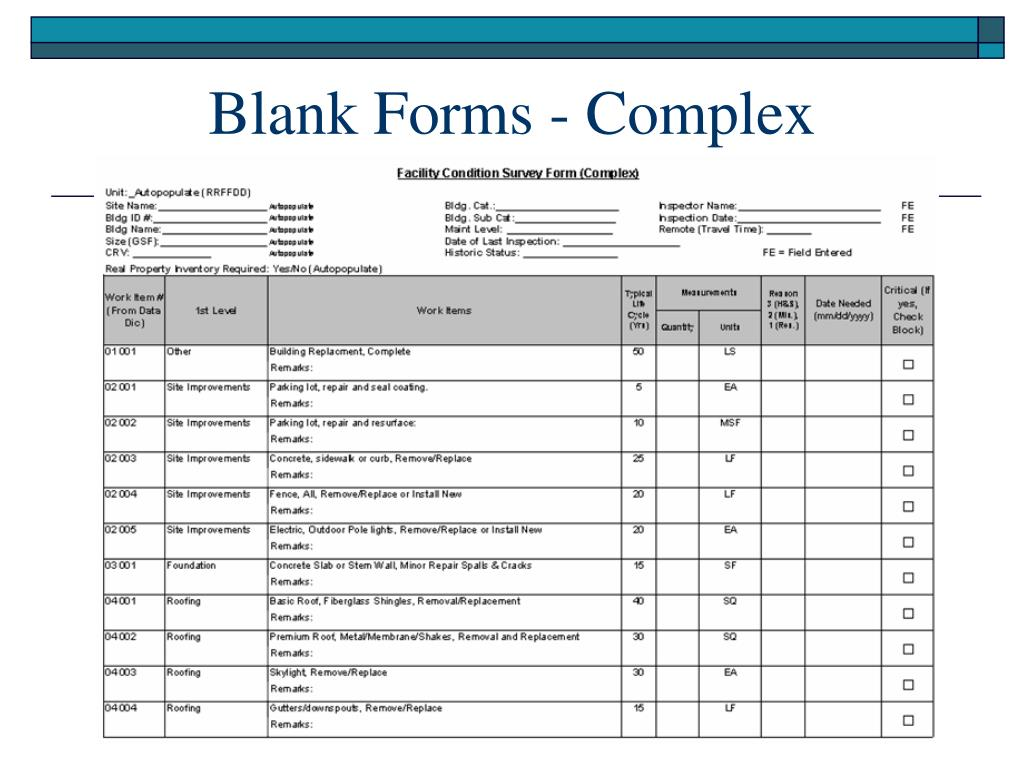 Blank Forms - Complex