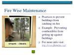 fire wise maintenance