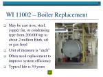 wi 11002 boiler replacement