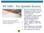 wi 14001 fire sprinkler systems