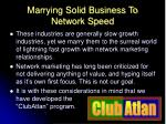 marrying solid business to network speed11
