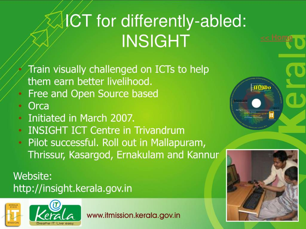 ICT for differently-abled: INSIGHT