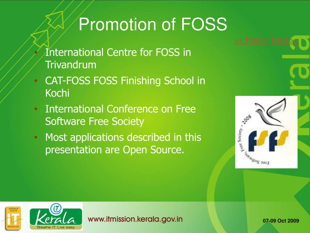 Promotion of FOSS