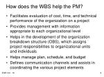 how does the wbs help the pm