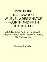 discipline designator w level 2 designator fourth and fifth characters