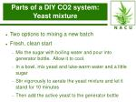 parts of a diy co2 system yeast mixture15