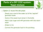 parts of a diy co2 system yeast mixture16