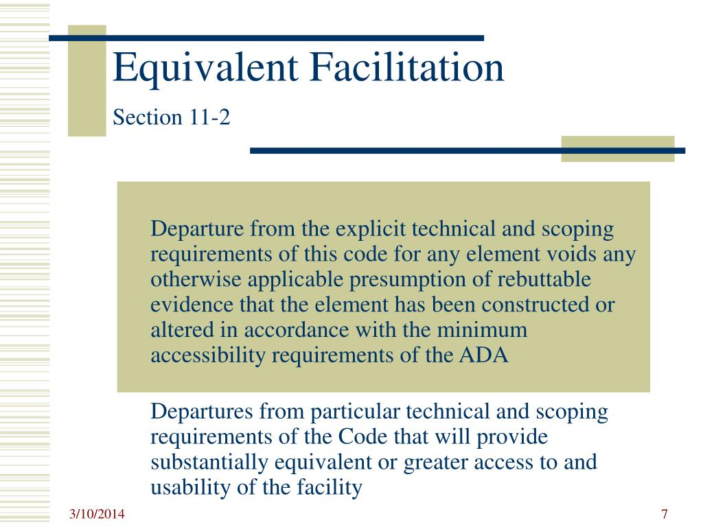 Equivalent Facilitation