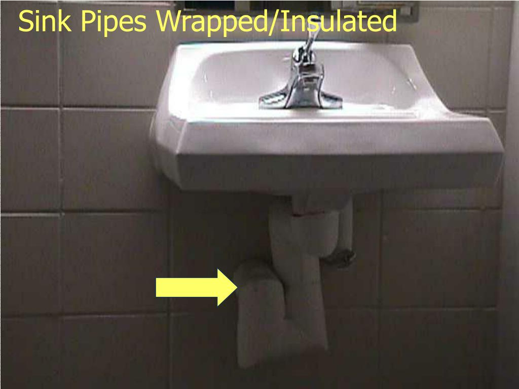 Sink Pipes Wrapped/Insulated