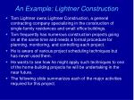 an example lightner construction