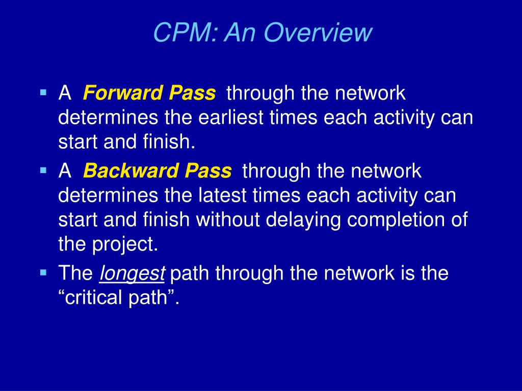 CPM: An Overview