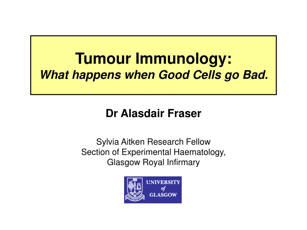 tumour immunology what happens when good cells go bad
