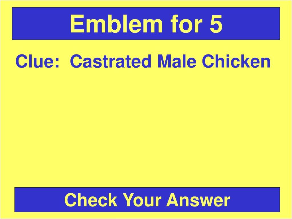 Emblem for 5