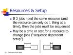 resources setup