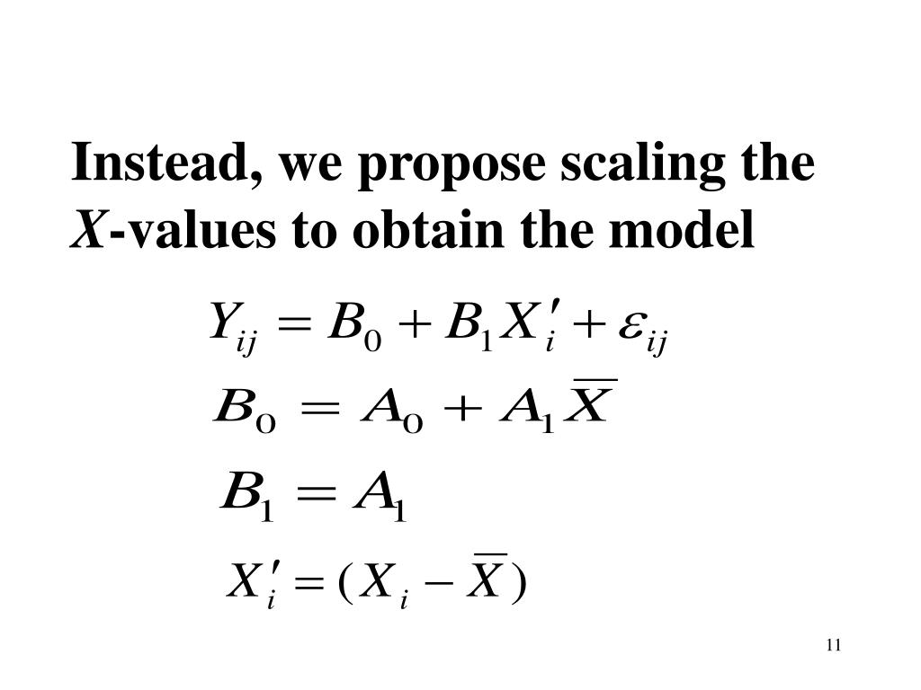 Instead, we propose scaling the