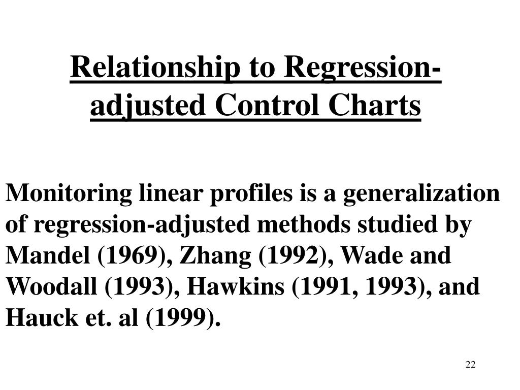 Relationship to Regression-adjusted Control Charts