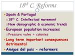 18 th c reforms