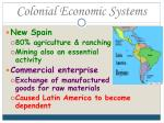 colonial economic systems