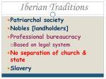 iberian traditions
