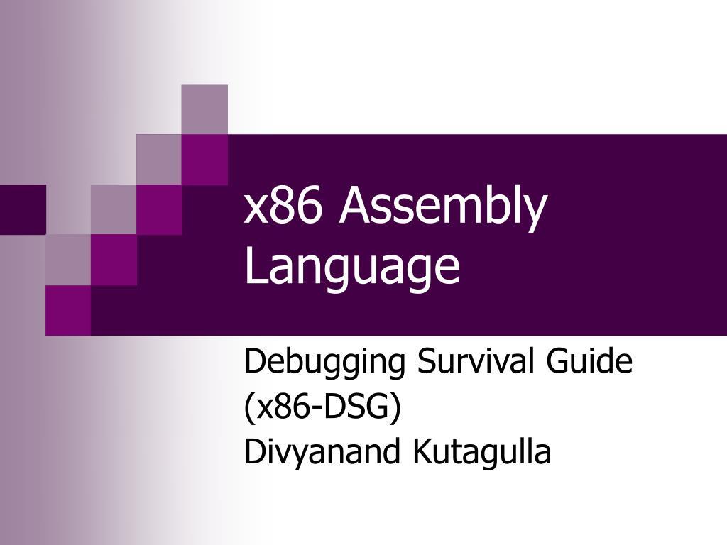 x86 assembly language l.