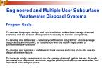 engineered and multiple user subsurface wastewater disposal systems3