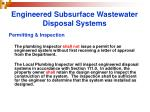engineered subsurface wastewater disposal systems24