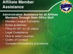 affiliate member assistance