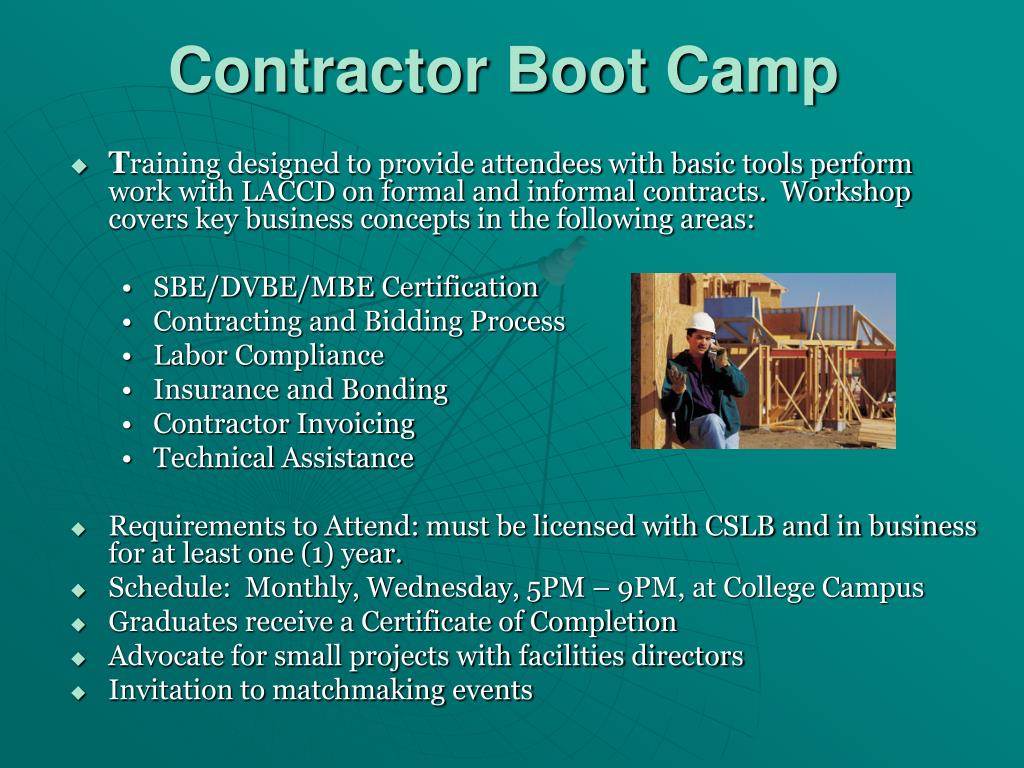 Contractor Boot Camp