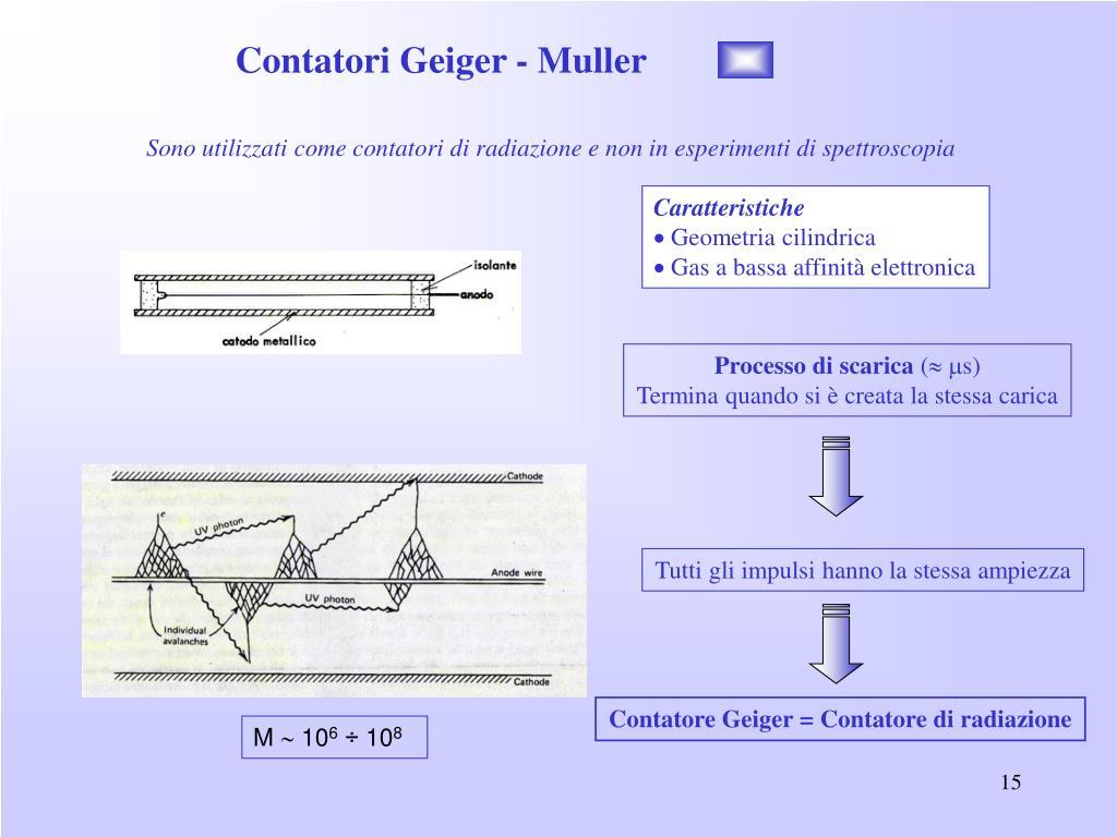 Contatori Geiger - Muller
