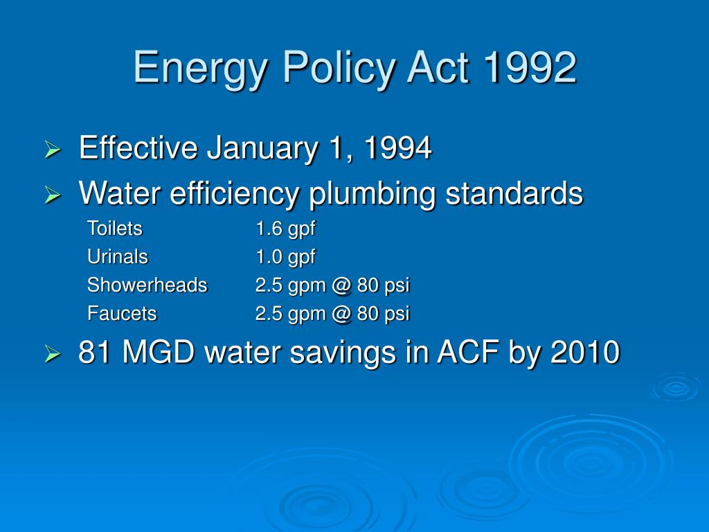 Energy Policy Act 1992
