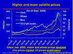 higher and more volatile prices