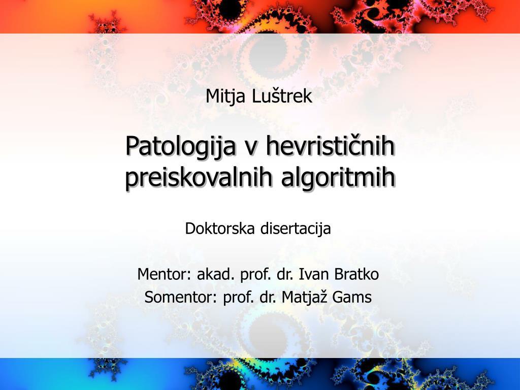 Patologija v hevrističnih