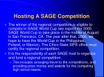 hosting a sage competition1