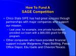 how to fund a sage competition